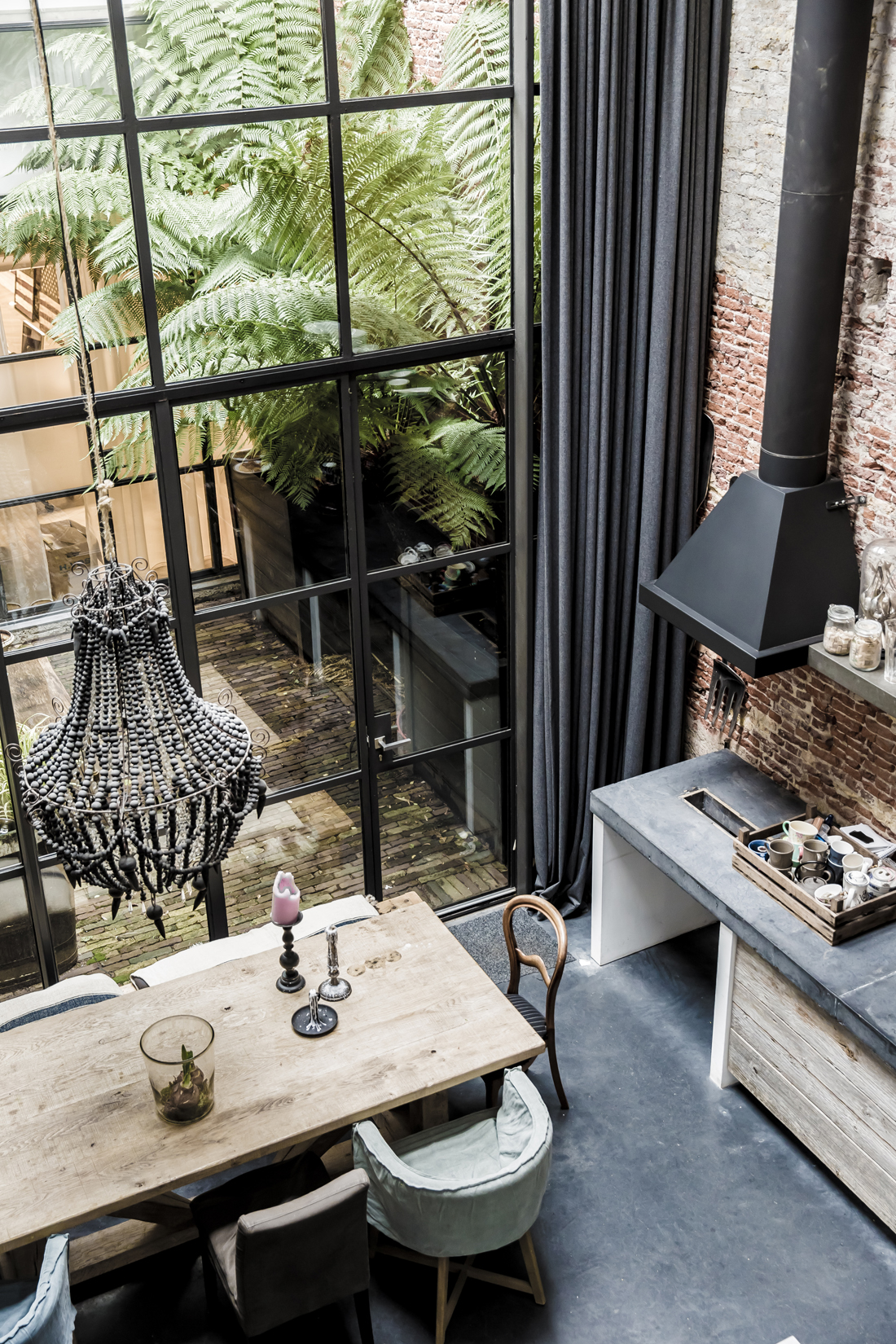 house tour amsterdam warehouse turned family home. Black Bedroom Furniture Sets. Home Design Ideas