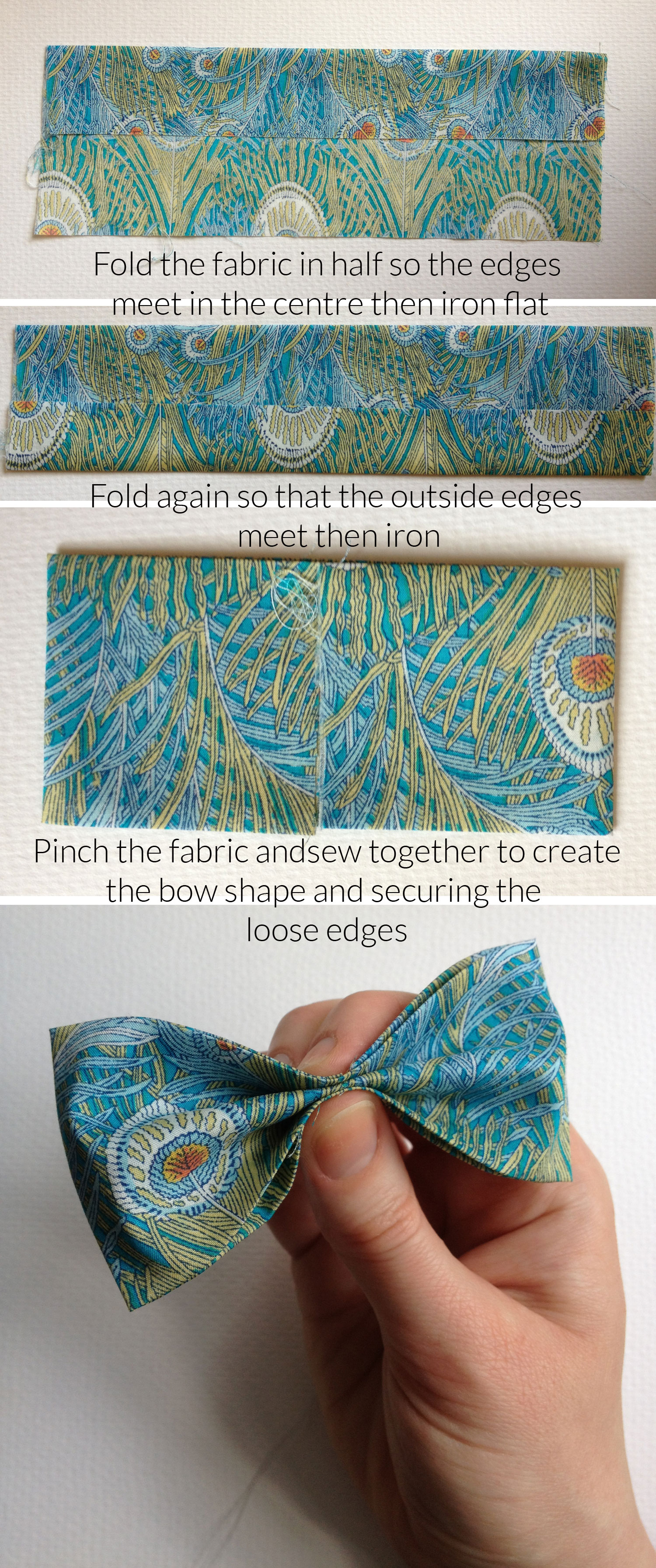 Folding-to-make-bow