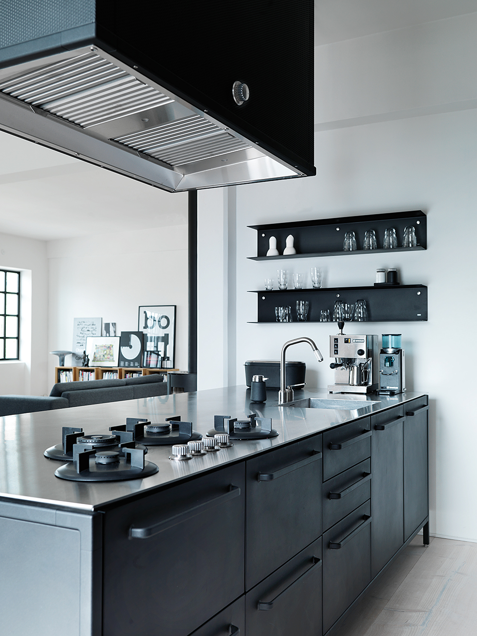 Contemporary Black Kitchen Design Ideas: Danish Apartment Filled With Vipp - Hannah In