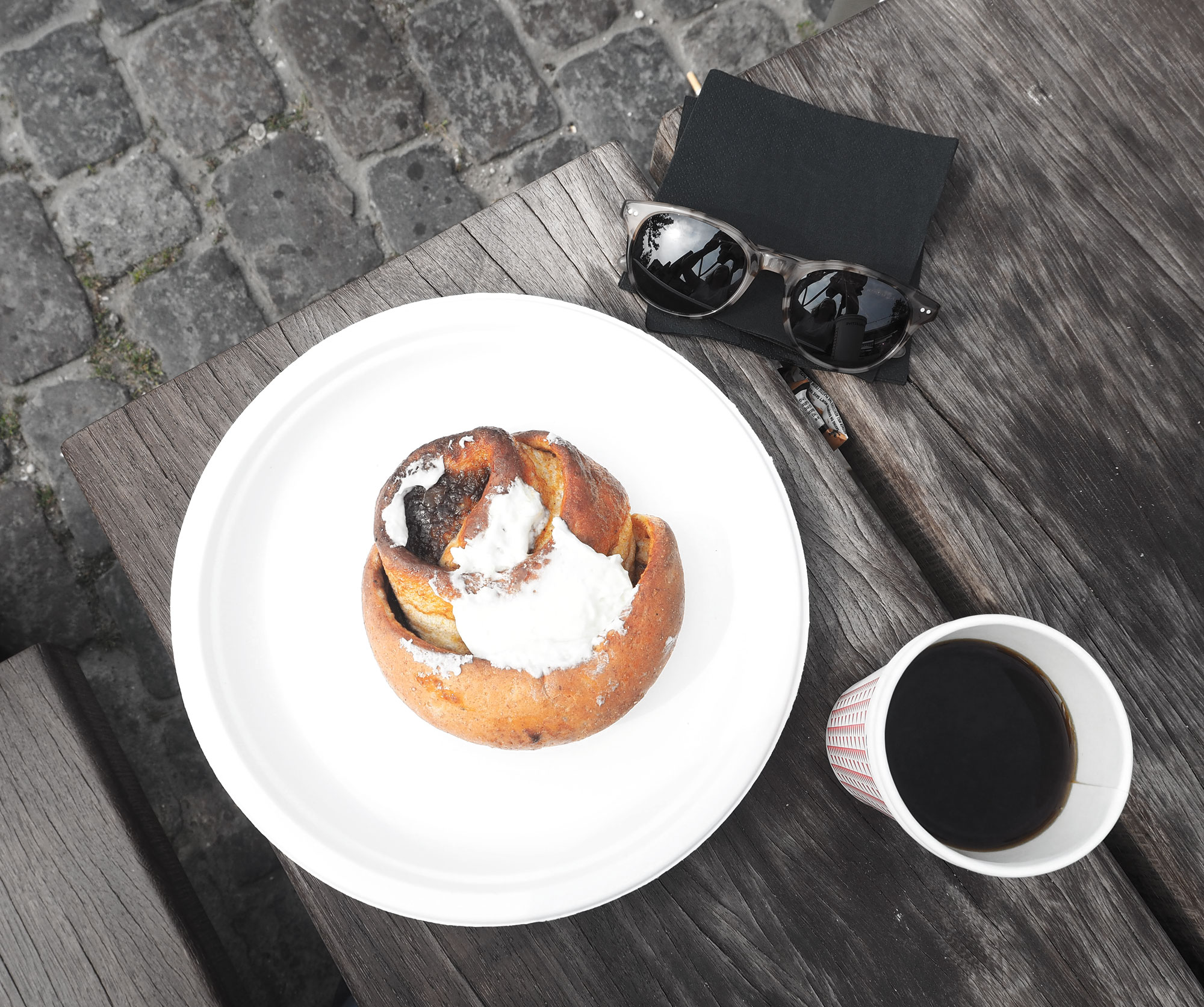 Danish Coffee and Cinnamon bun