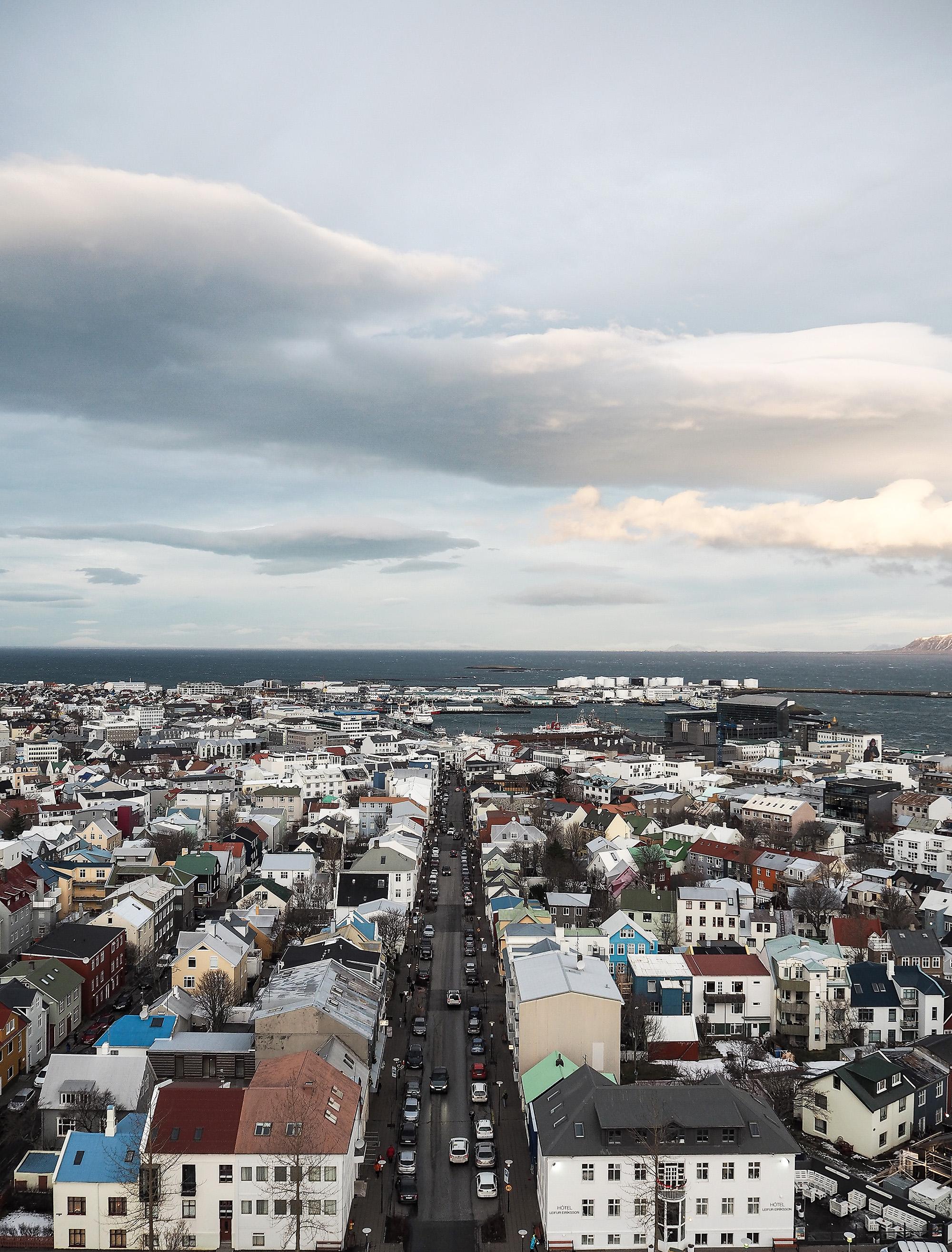 A view from Hallgrímskirkja church Iceland