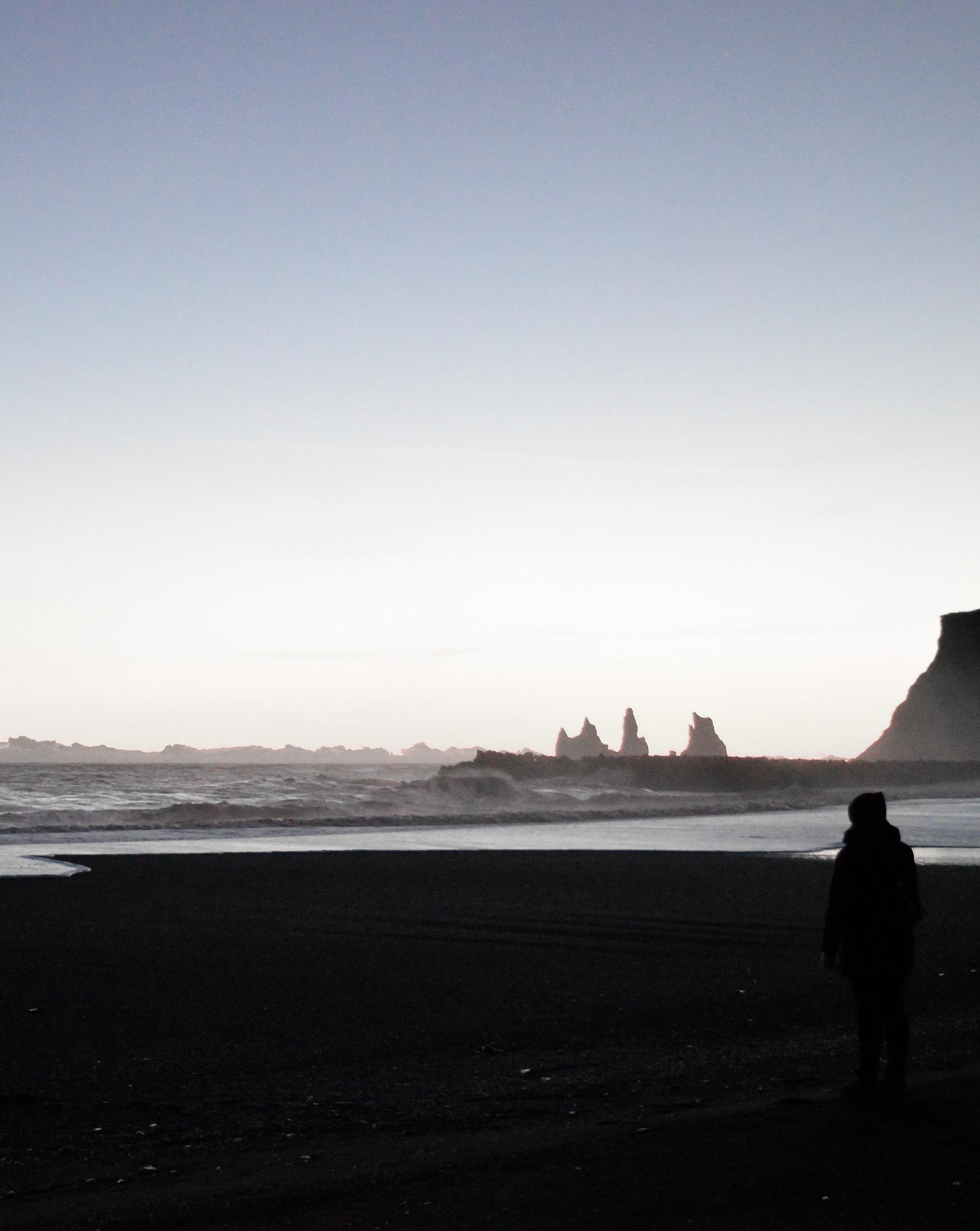 Black sands of Vik Iceland