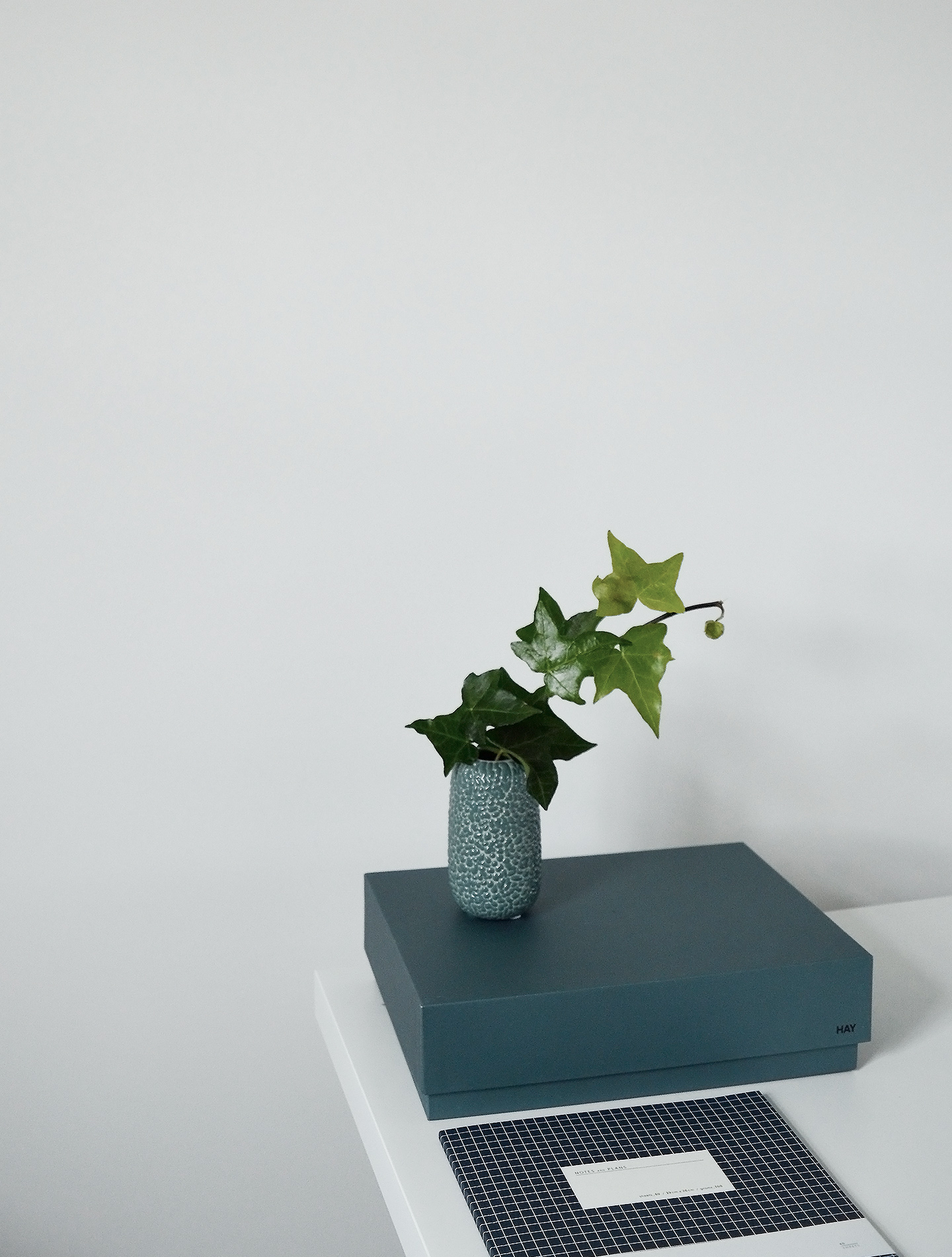 blue + green minimal styling - interiors colour trend
