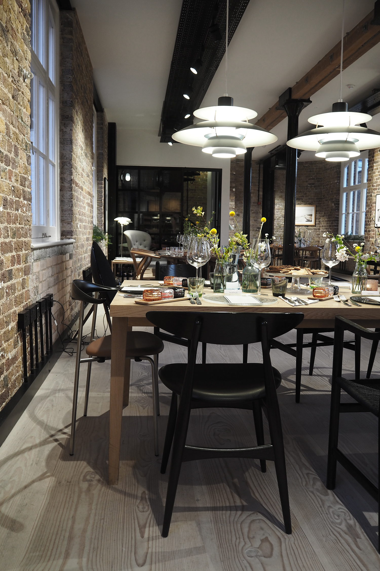 Skandium supper club at the Carl Hansen showroom in London