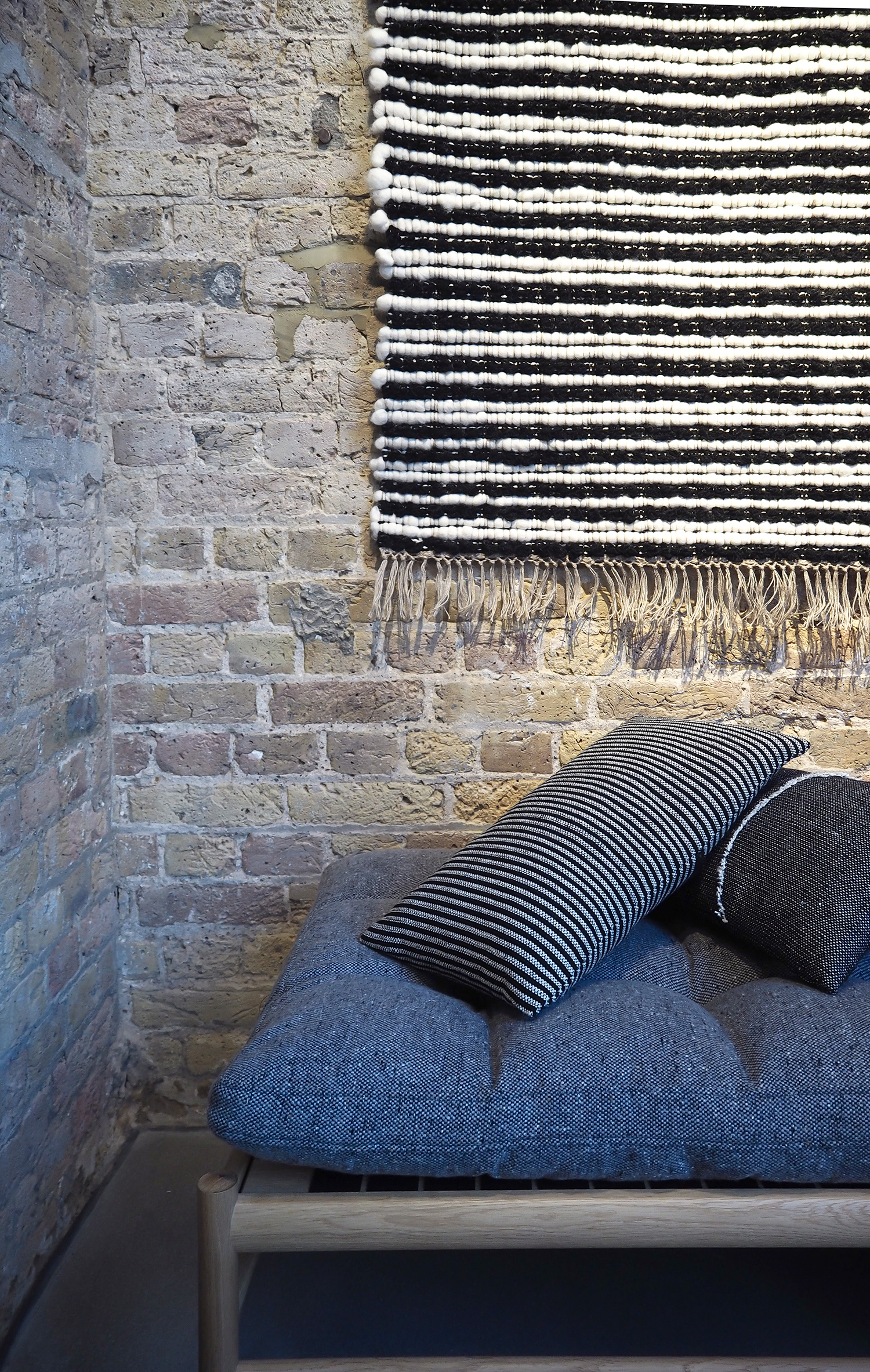 Carl Hansen day bed upholstered in Mourne textiles