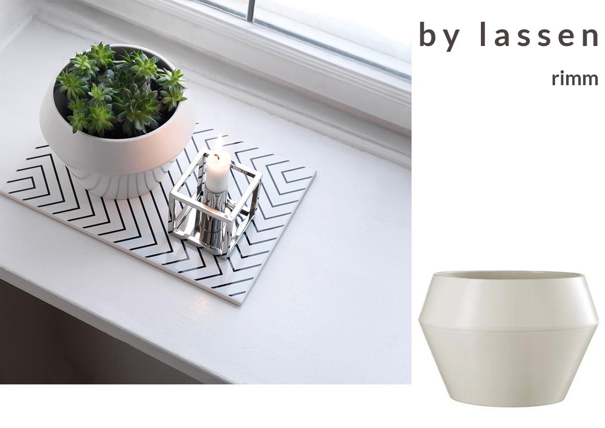stylish plant pots - by Lassen RIMM pot