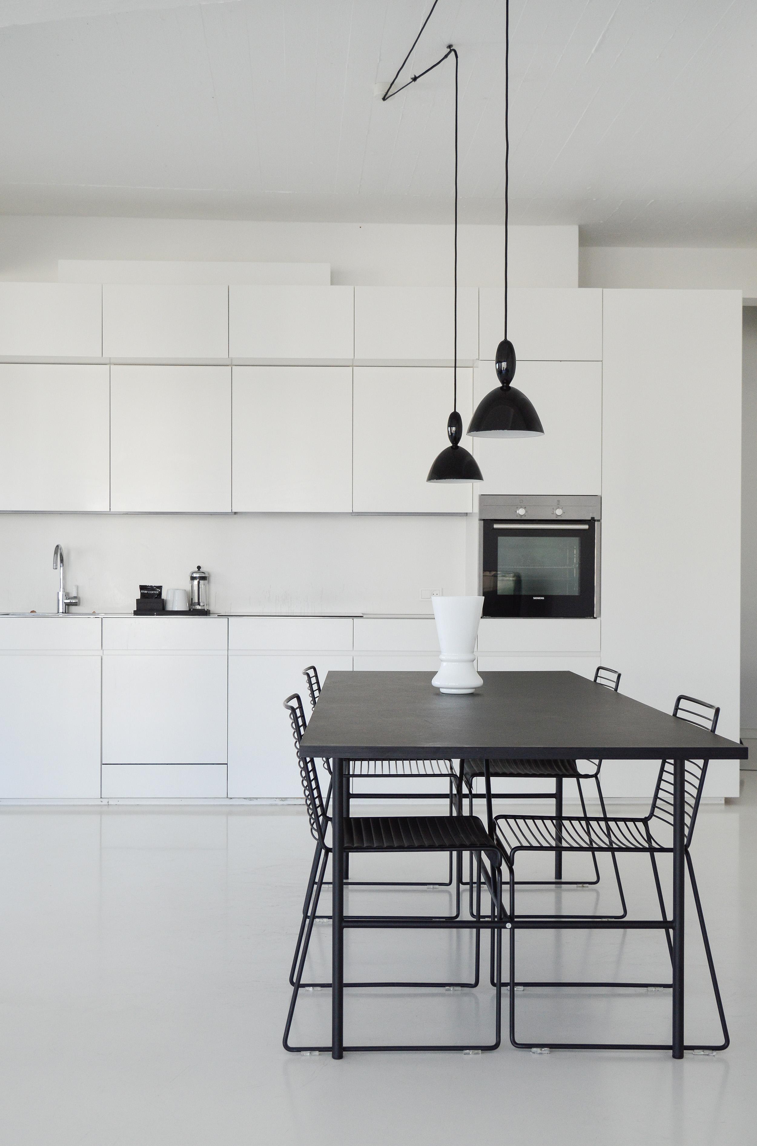 A Scandinavian minimalist kitchen