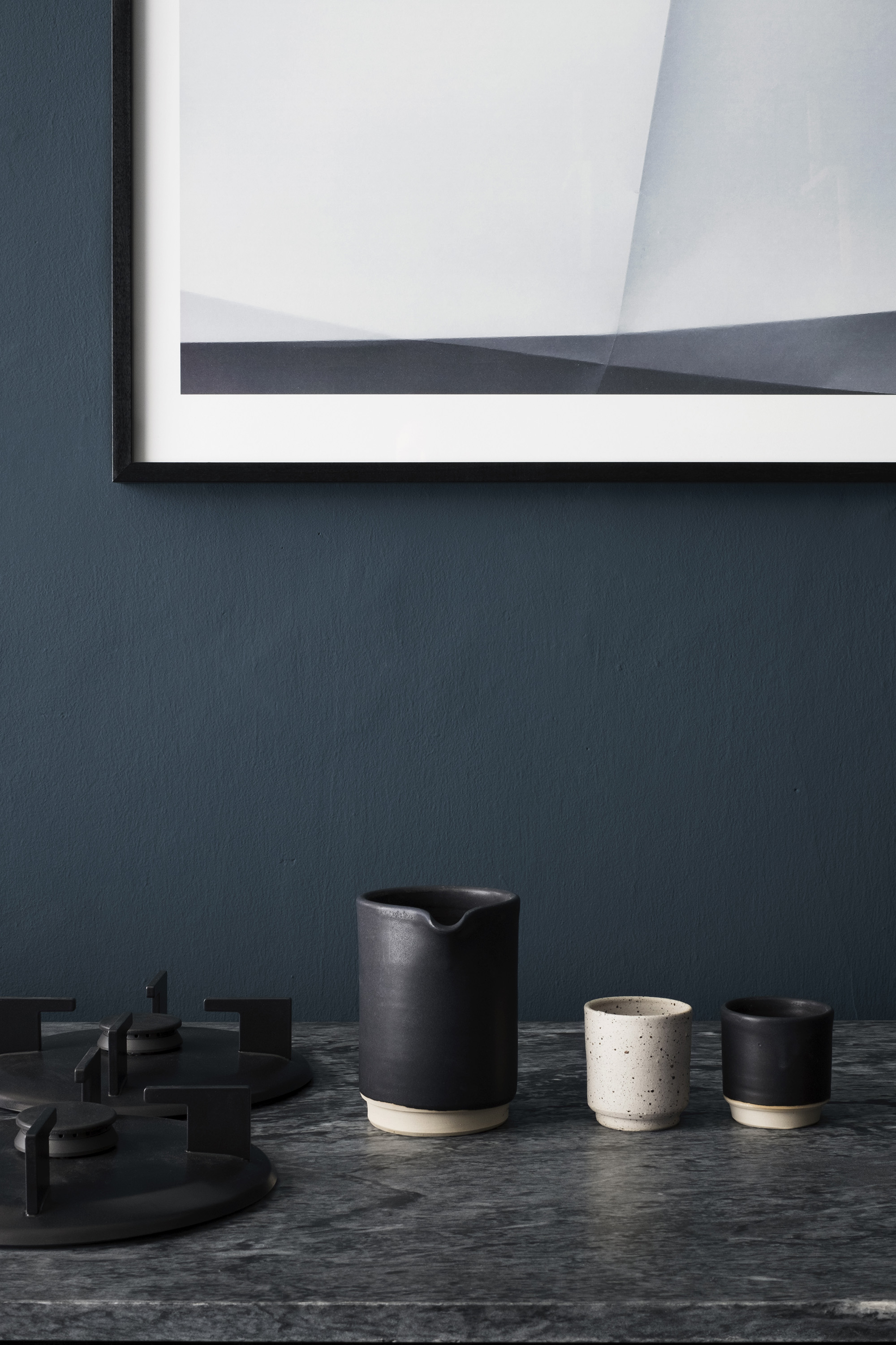 A Scandinavian blue kitchen
