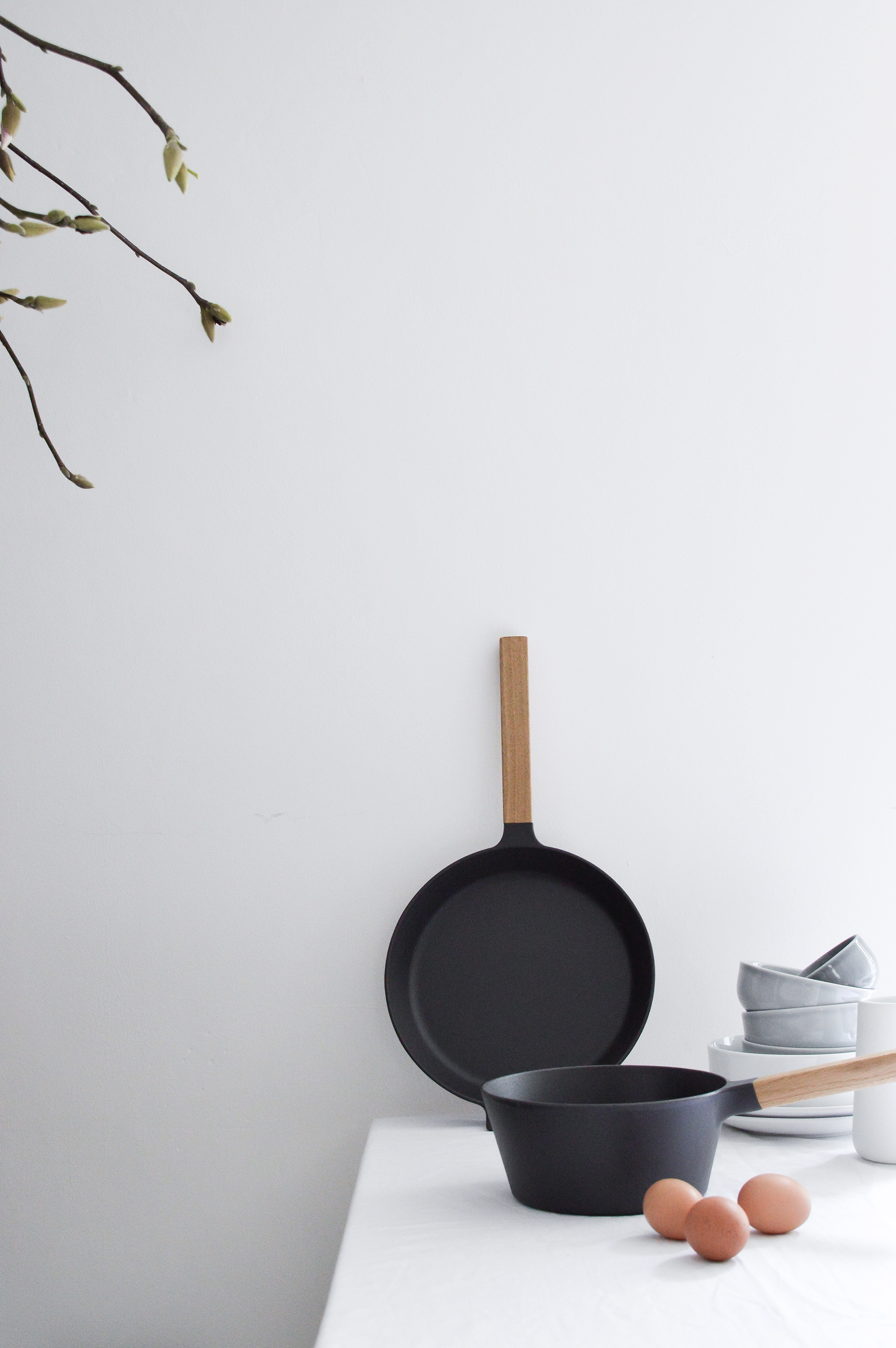 Springtime hygge with Morsø, Danish cookware, simple kitchen styling, scandinavian