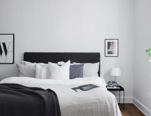 Simple and minimal scandinavian bedroom