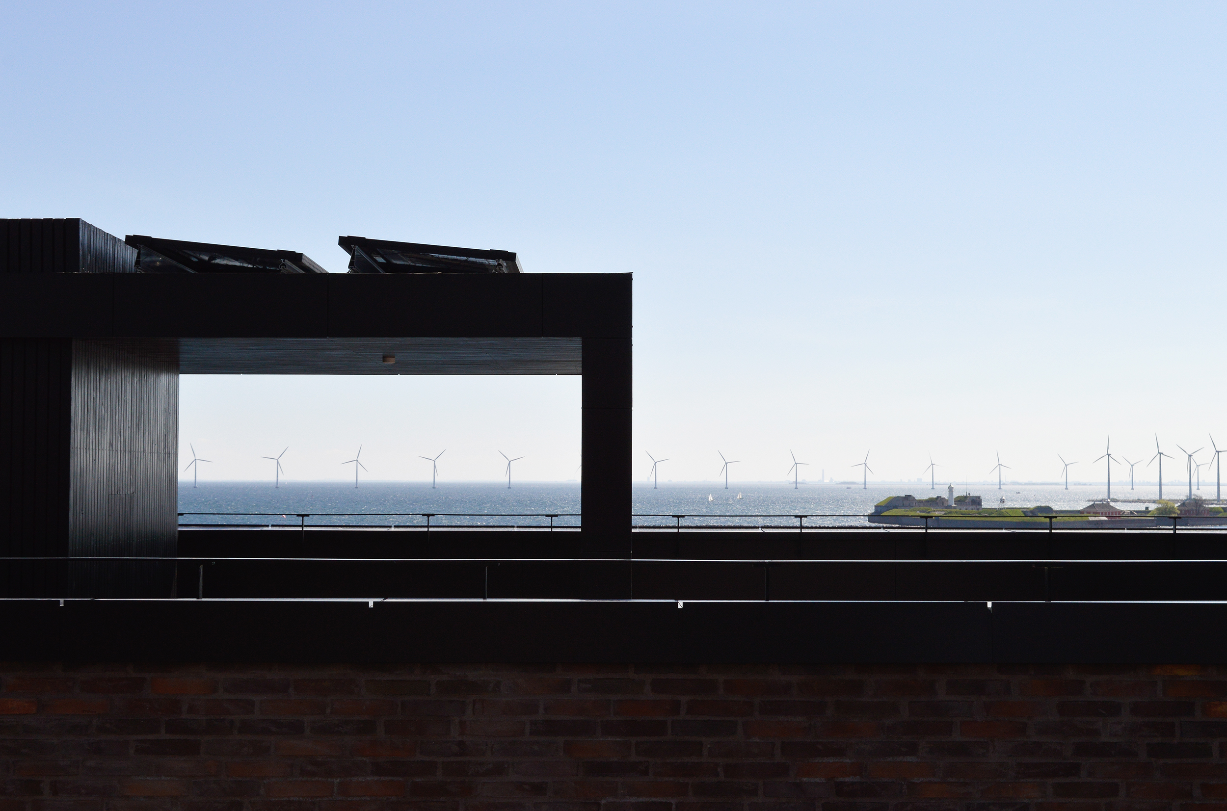 The rooftop view from Stay Seaport Copenhagen