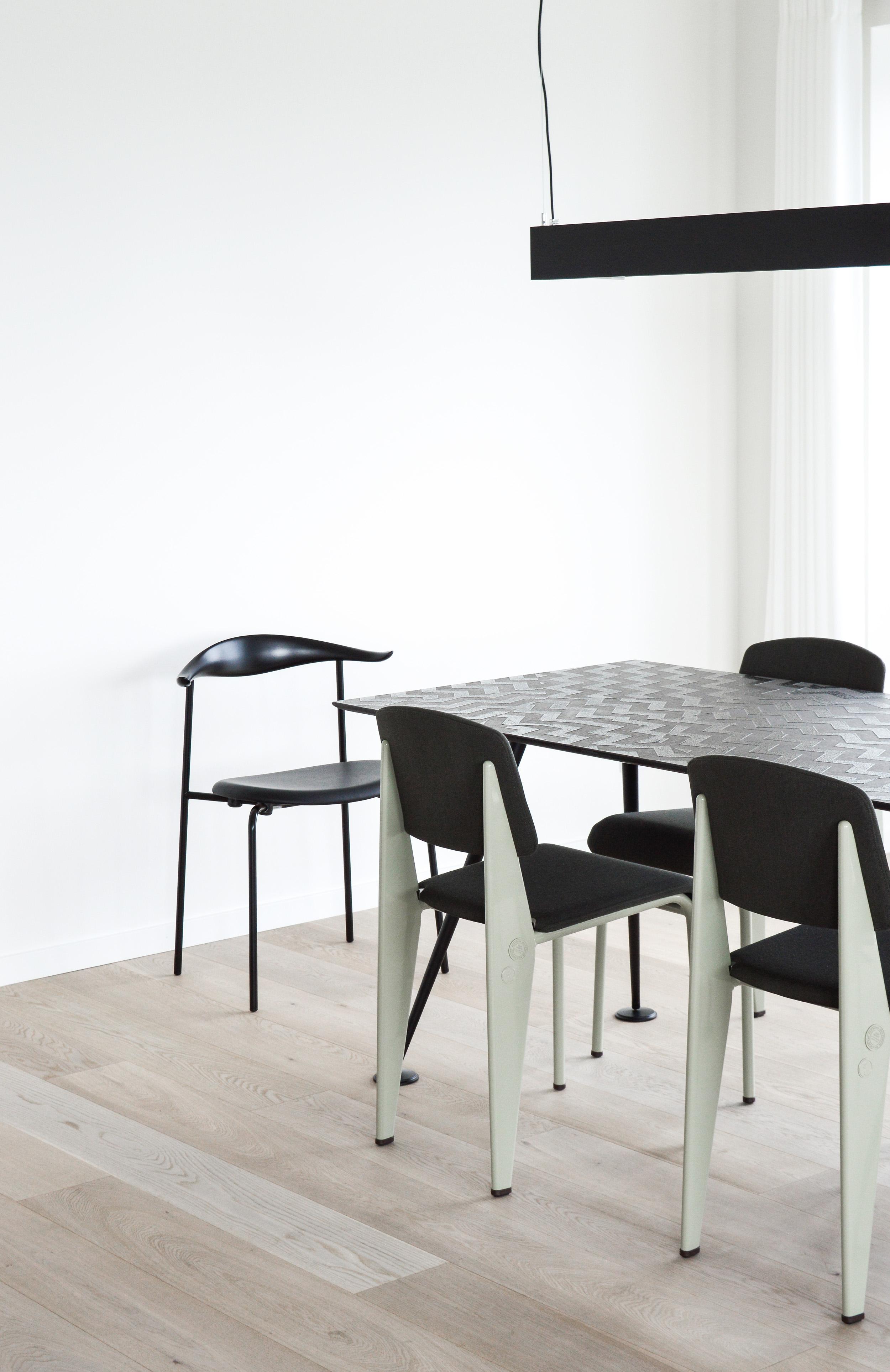 A Scandinavian minimalist dining area, Stay Seaport, Copenhagen