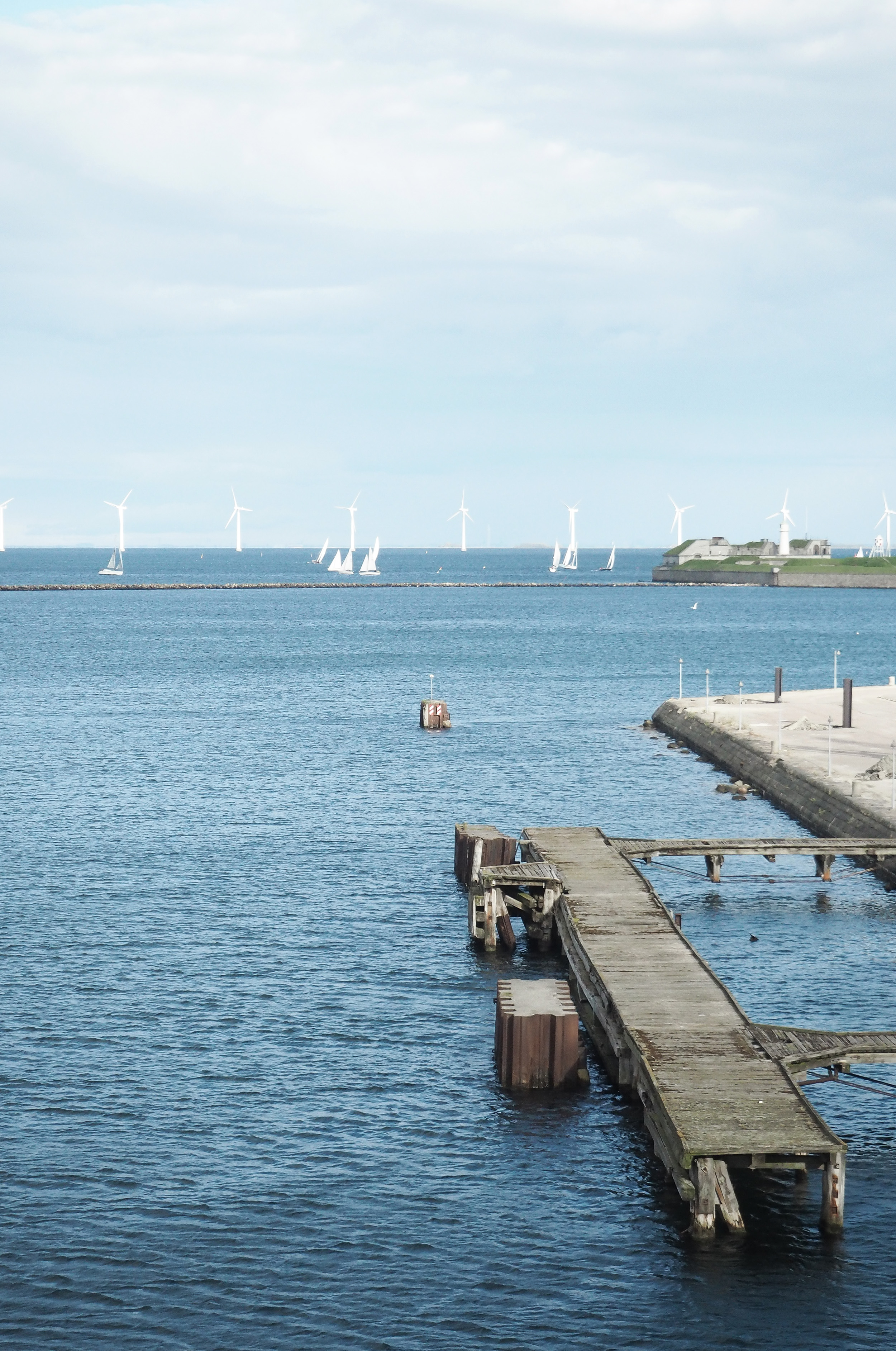 The sea view at Stay Seaport in Nordhavn Copenhagen.