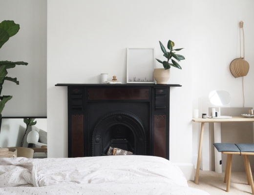 Bedroom details. A calm scandi minimalist bedroom, a light bright space.