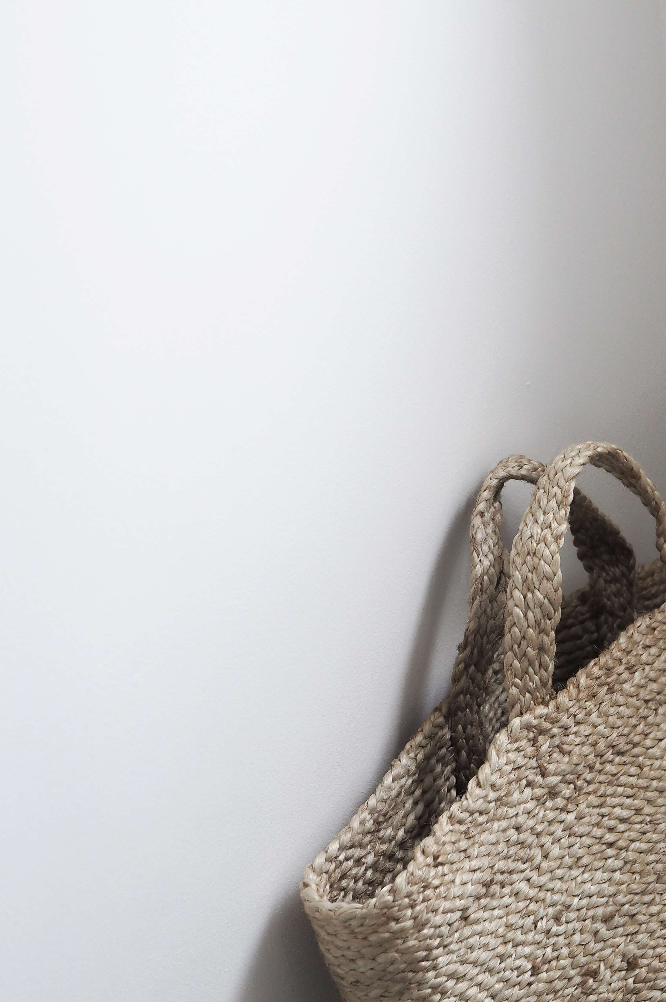 Woven Jute basket, Scandinavian design