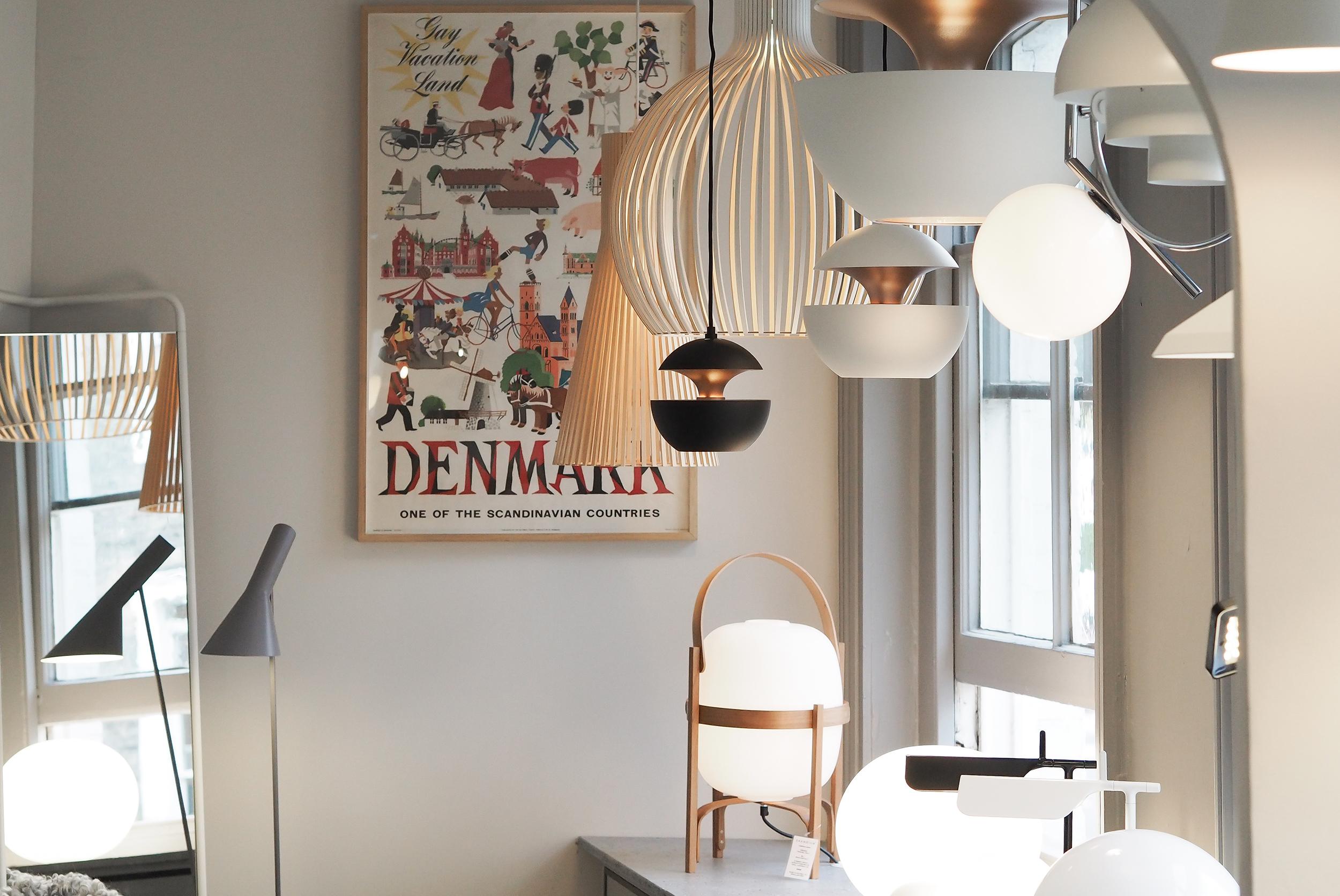 Lighting in skandium scandinavian design shop london