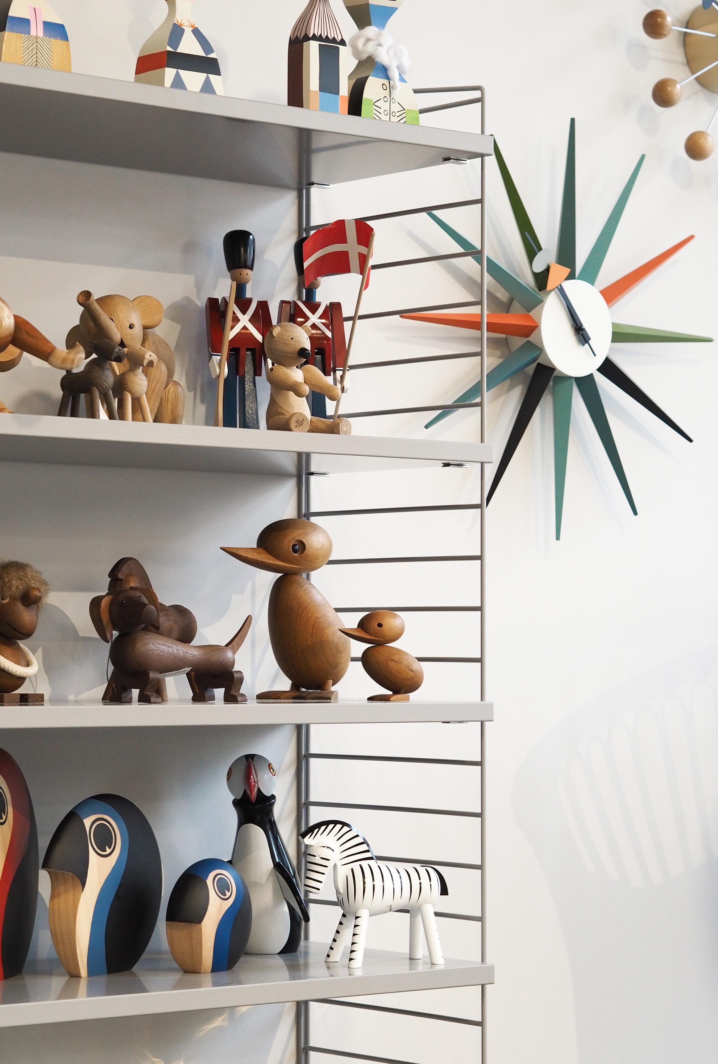 Skandium House South Kensington, Danish wooden toys, Hannah in the house
