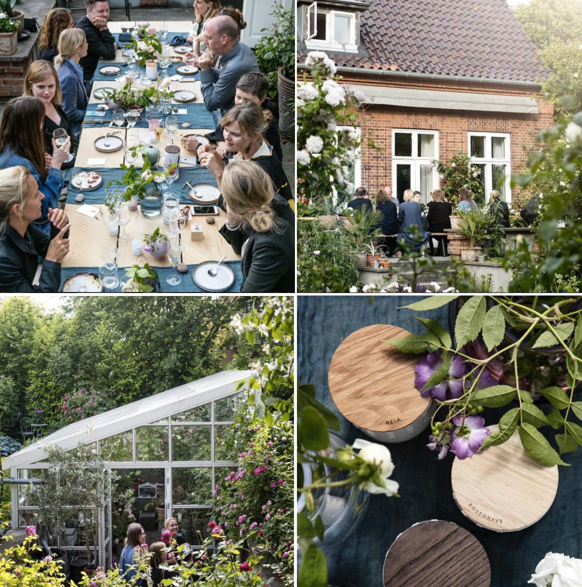 Skandinavisk escapes rose garden