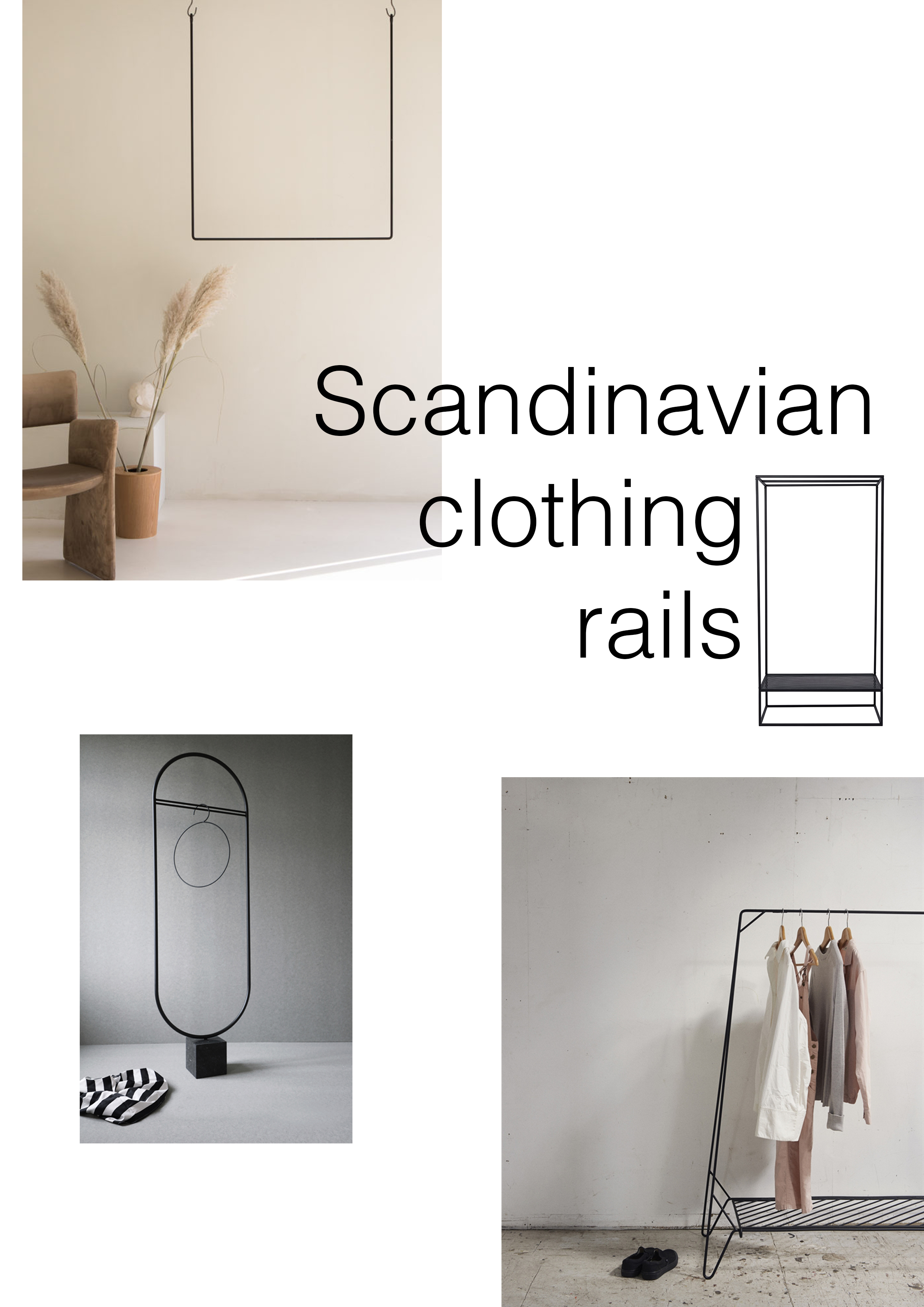 Scandinavian clothing rails