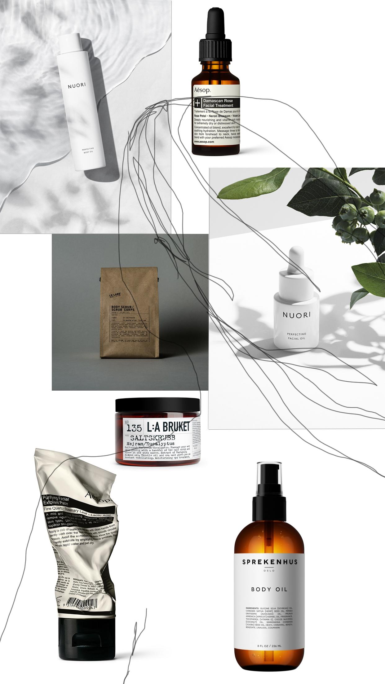 Scandinavian and minimalist skincare , Danish and Swedish skin care