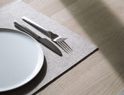 a simple Scandinavian table setting