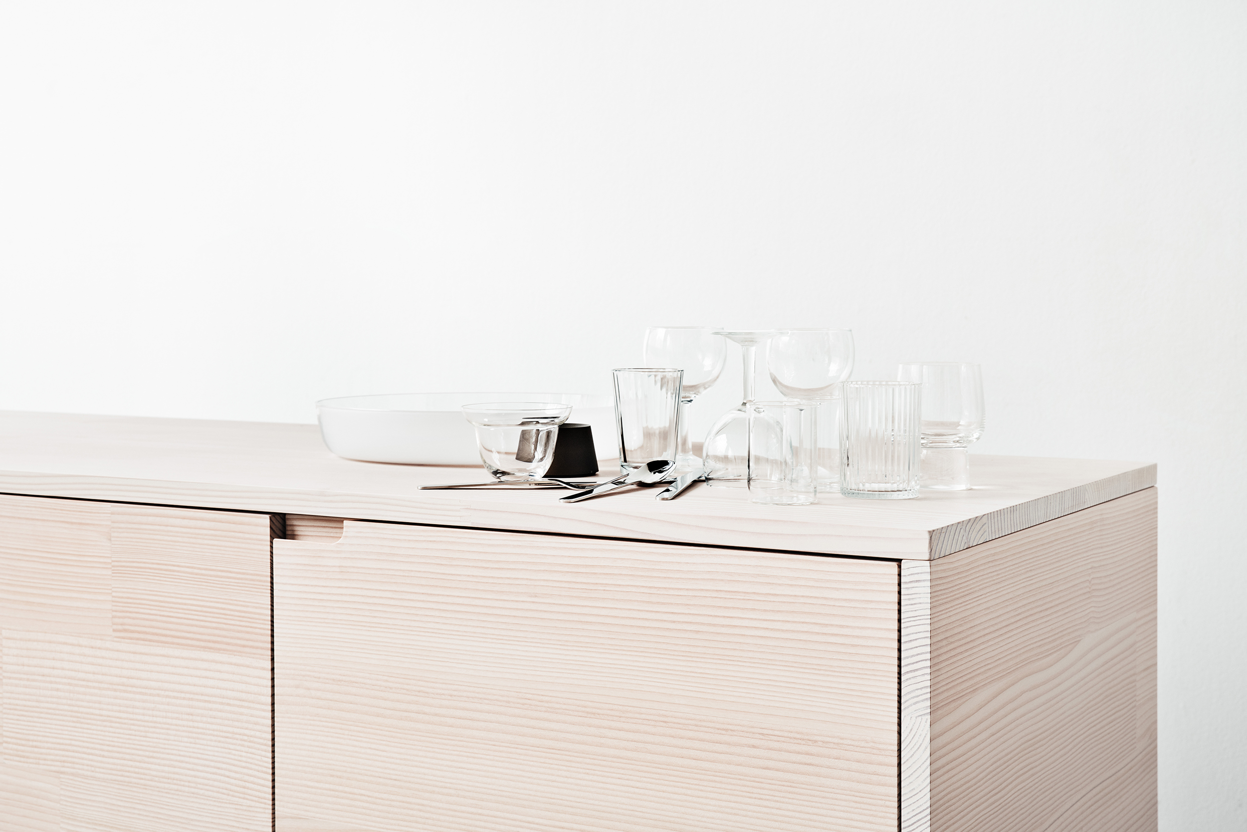 The ultimate minimalist IKEA kitchen hack from Reform using Dinesen wood